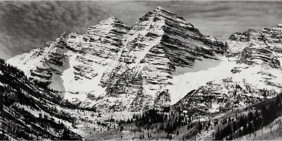 Ansel Adams (1902-1984); Maroon Bells, Near Aspen, Colorado;