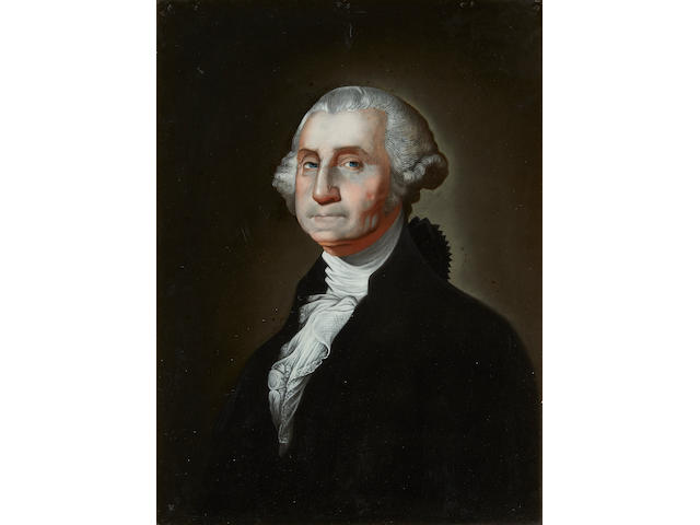 GUANGZHOU School, after Gilbert Stuart, Portrait of George Washington, 1798-1801