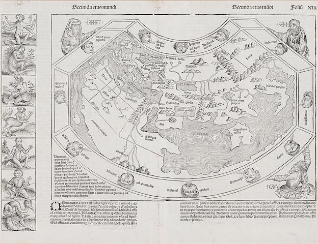 SCHEDEL, HARTMANN. 1440-1514. Secunda etas mundi. [Nuremberg: 1493.]