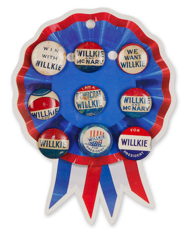 CAMPAIGN BUTTONS. A group of approximately 180 campaign buttons,