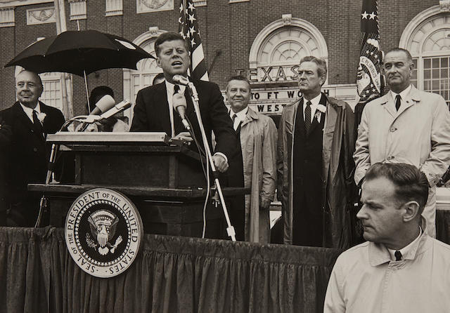 FIVE PHOTOGRAPHS FROM FORT WORTH, NOVEMBER 21-22, 1963. Five original unpublished photographs of Kennedy's appearance in Fort Worth,
