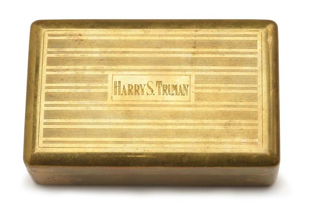 TRUMAN, HARRY. 1884-1972. Shaving kit belonging to the 33rd President,