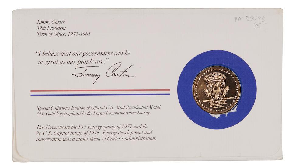 JIMMY CARTER MEMORABILIA. A group of Jimmy Carter presidential memorabilia,