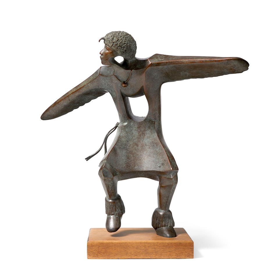 "An Allan Houser bronze, ""Eagle Dancer,"" 1992"