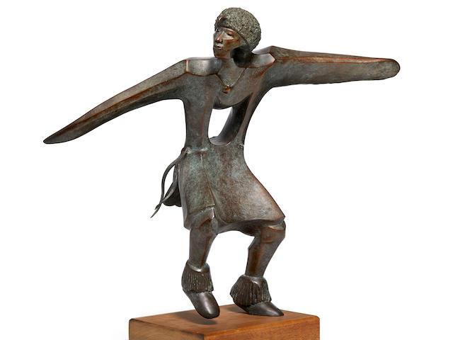 "An Allan Houser bronze, ""Eagle Dancer,"" 1992, edition 2/15"