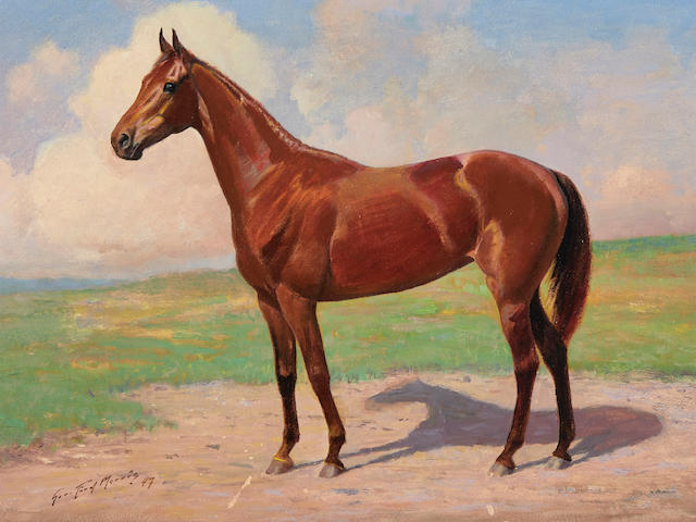 George Ford Morris (1873-1960) The Race Mare 14 1/2 x 18 1/2in framed 19 1/2 x 23 1/2in (Painted in 1947.)