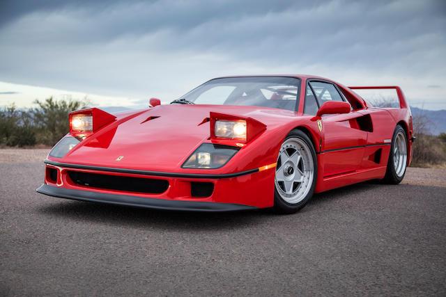 <b>1991 Ferrari F40 </b><br /> VIN. ZFFMN34A8M0088374 <br />Engine no. 26308