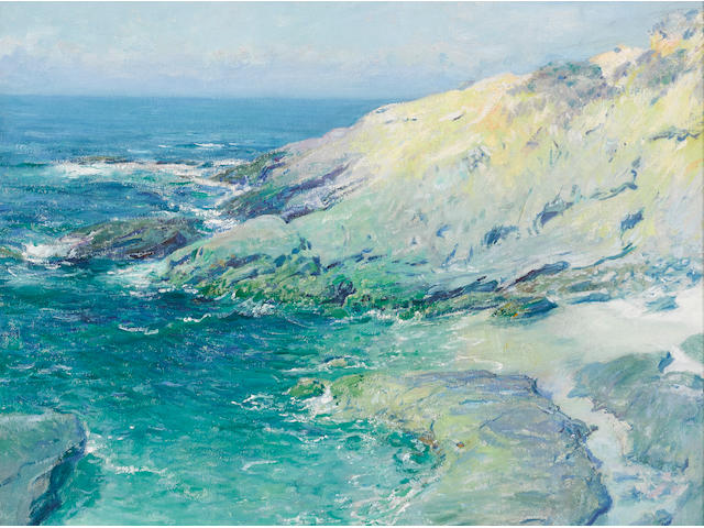 Guy Rose (1867-1925) View of Wood's Cove, Rockledge 24 x 29in framed 36 x 40in