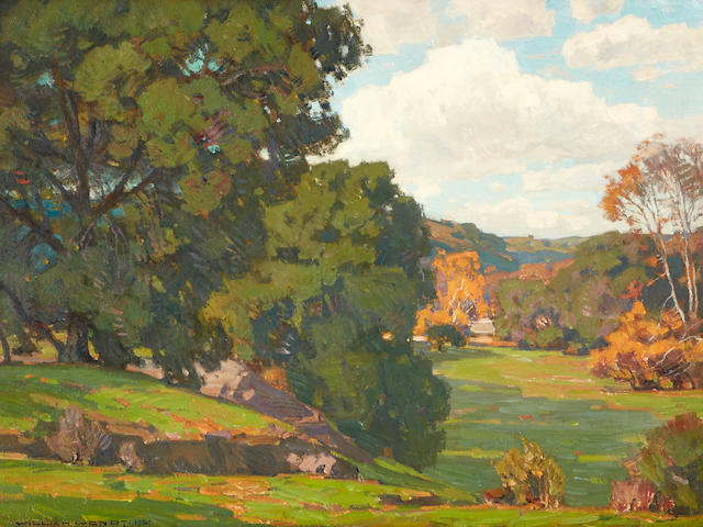 William Wendt (1865-1946) Along the River Bed 30 x 40in framed 39 1/2 x 49 1/2in (Painted in 1923. )