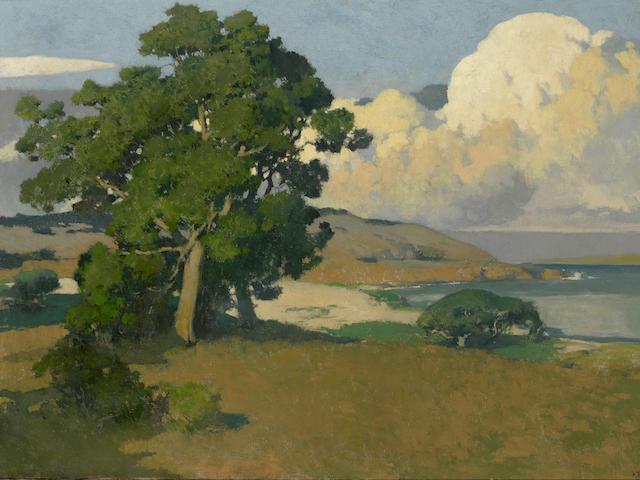Arthur Frank Mathews (1860-1945) Monterey 38 x 50in framed 54 x 66in