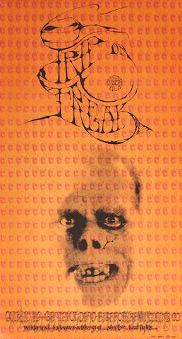 "A ""Trip Or Freak"" Grateful Dead Winterland concert poster 1967"