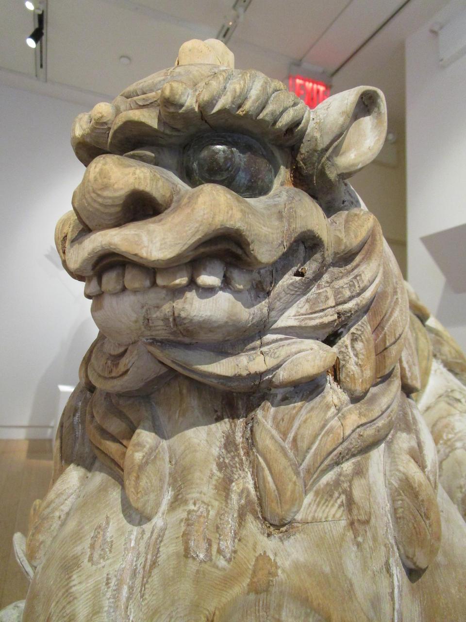 A SHISHI AND A KOMA-INU Kamakura period (1185-1333), 13th/14th century
