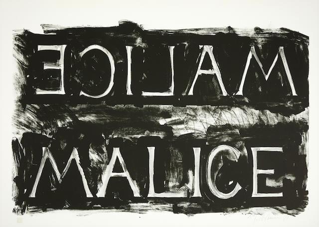 Bruce Nauman (born 1941); Malice;