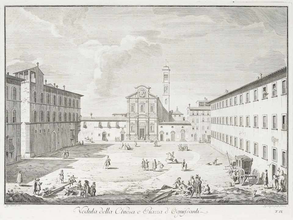 After Giuseppe Zocchi (1711-1767); Scelta di XXIV Vedute delle Principali Contrade, Piazze, Chiese, i Palazzi della Citta di Firenze; (13)