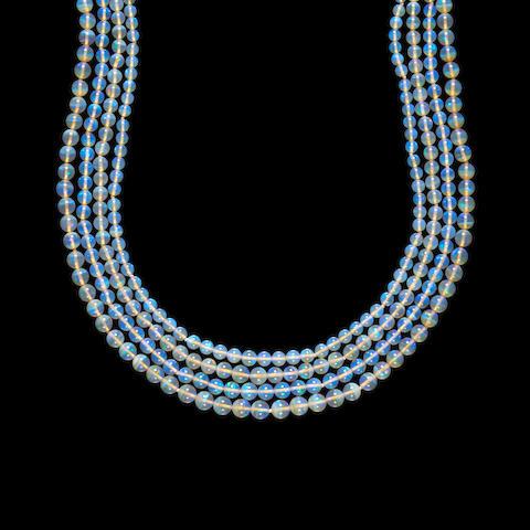 Crystal Opal Bib Necklace