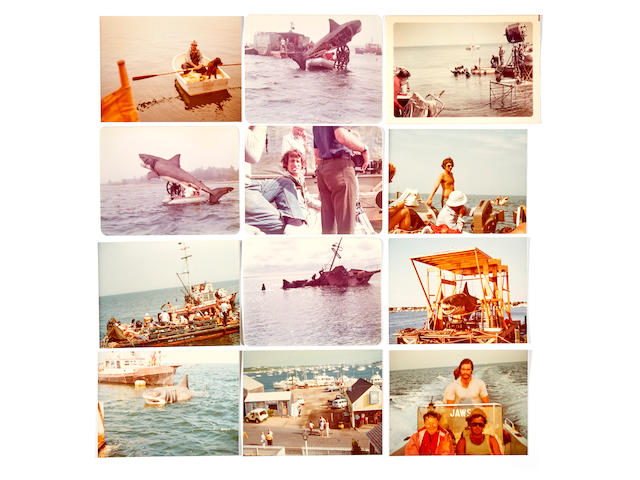 A Jaws archive of color snapshots taken during filming, from the collection of script supervisor Charlsie Bryant