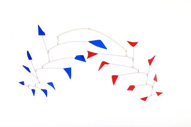 Alexander Calder (American, 1898-1976) Little Red and Blue 1976