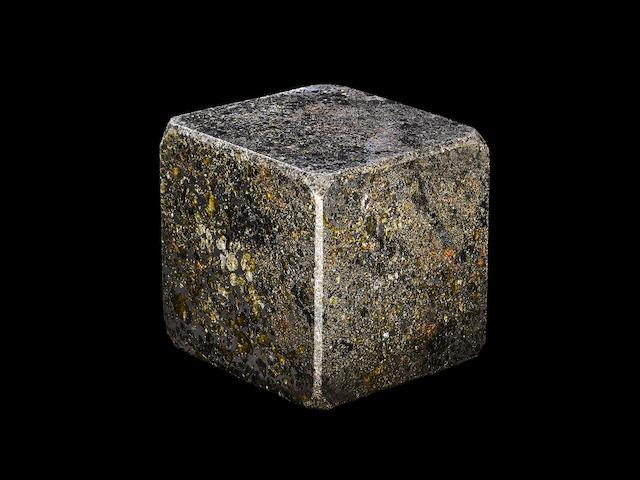 Large Seymchan Meteorite Cube