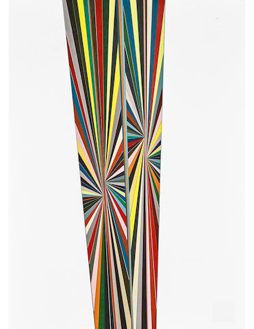 Mark Grotjahn (born 1968) Untitled (Colored Butterfly White Sides 691)  2007