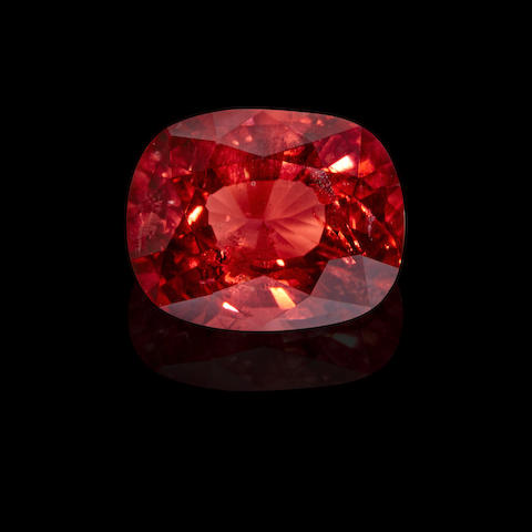 Orangy-Red Spinel