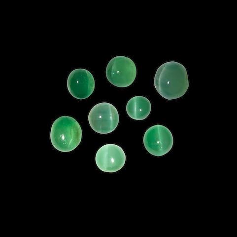 Group of Cat's Eye Emeralds