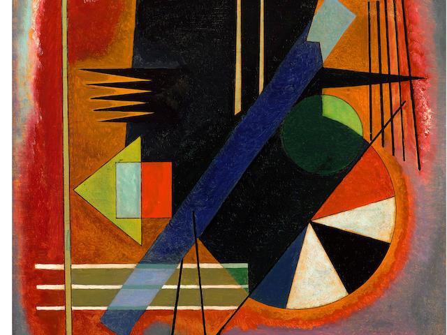 WASSILY KANDINSKY (1866-1944) Einige Spitzen 27 3/4 x 19 3/4 in (70.5 x 50.2 cm)  (Painted in March 1925)