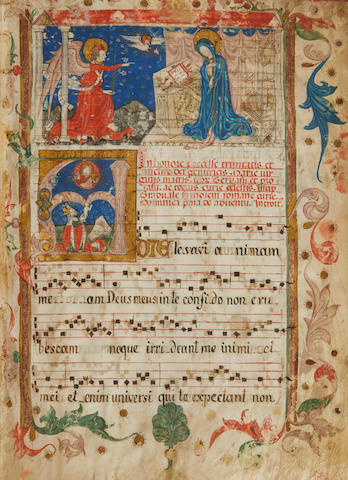 GRADUAL FOR THE USE OF ROME. Illuminated manuscript on vellum, in Latin, Southern Germany, second half of the fifteenth century.