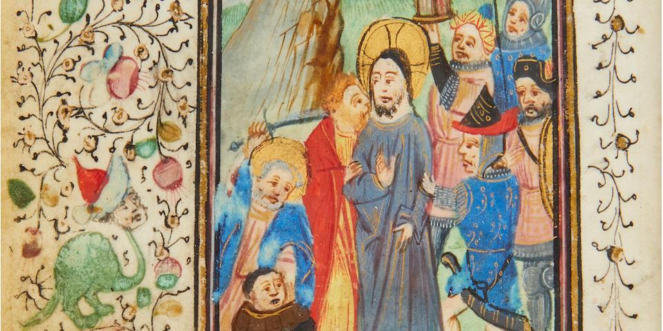 PRAYER BOOK IN GERMAN. Illuminated manuscript on vellum, Germany, late fifteenth century.