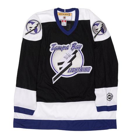 A Phil Lesh twice-signed Tampa Bay Lightning hockey jersey 2003