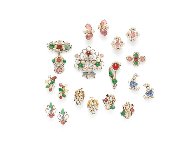 A group of earrings and brooches Late Qing/Republic period (19)