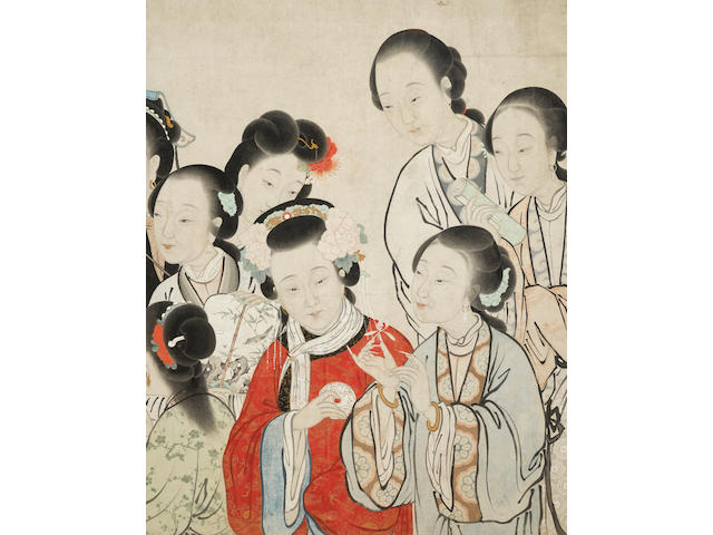 Attributed to Zhenran (1816-1884) Twelve Beauties