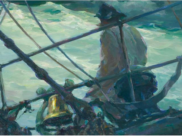 Armin Hansen (1886-1957) Storm at Sea 25 x 30in framed 29 1/2 x 34 1/2in