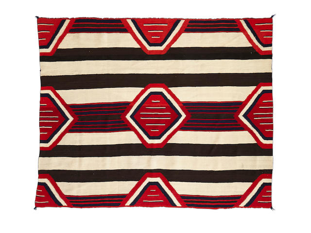 A Navajo Late Classic Third Phase Chief's blanket