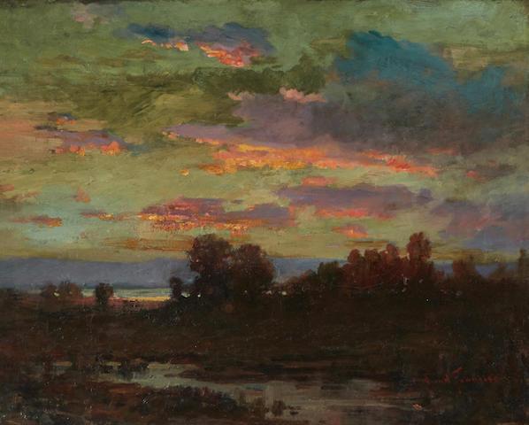 John Bond Francisco (1863-1931) Sunset over the Marshes 16 x 20in framed 20 3/4 x 24 1/2in