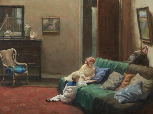 Albert Sheldon Pennoyer (1888-1957) My London Studio 40 x 30in framed 48 x 38in (Painted circa 1915.)