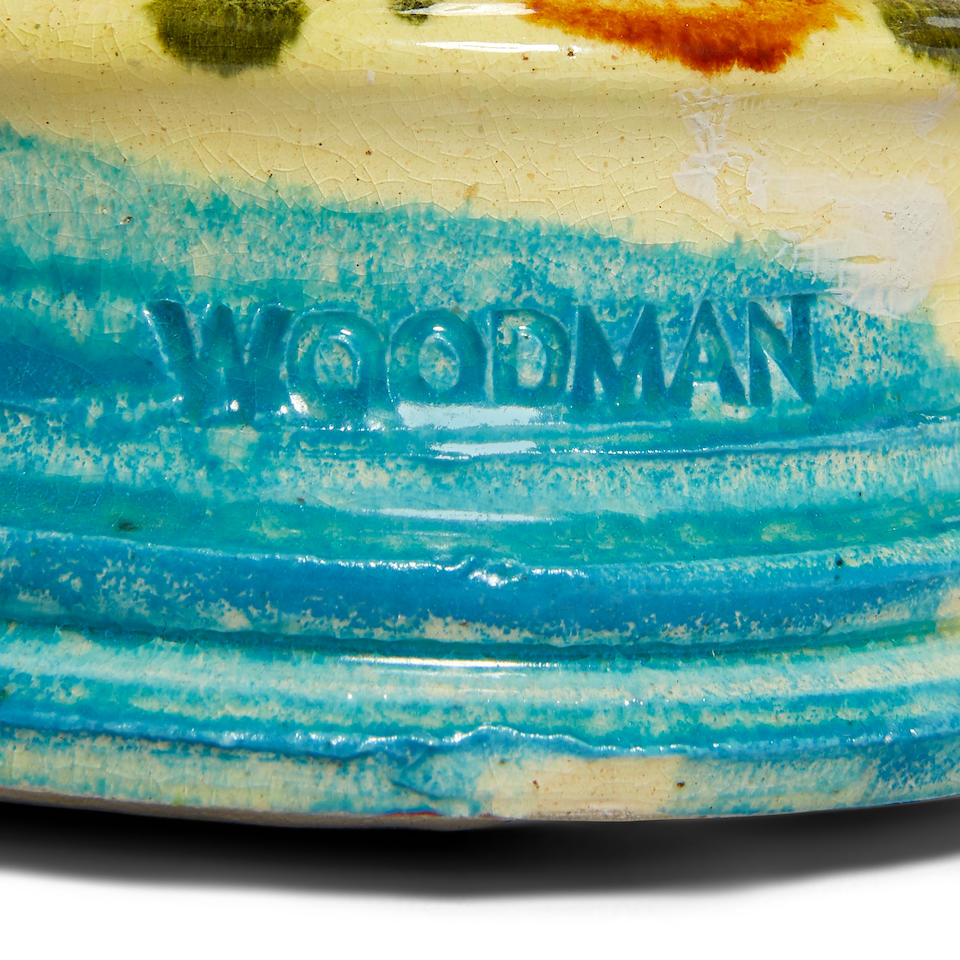 Betty Woodman (1930-2018) Muscle Boys (Triptych)circa 1984glazed earthenware, each stamped 'WOODMAN'height of tallest 22in (55.8cm)