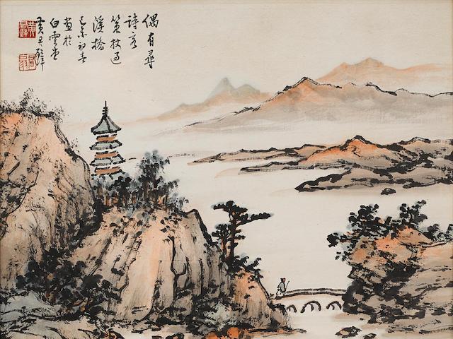 Huang Junbi (1898-1991) Landscape, 1979