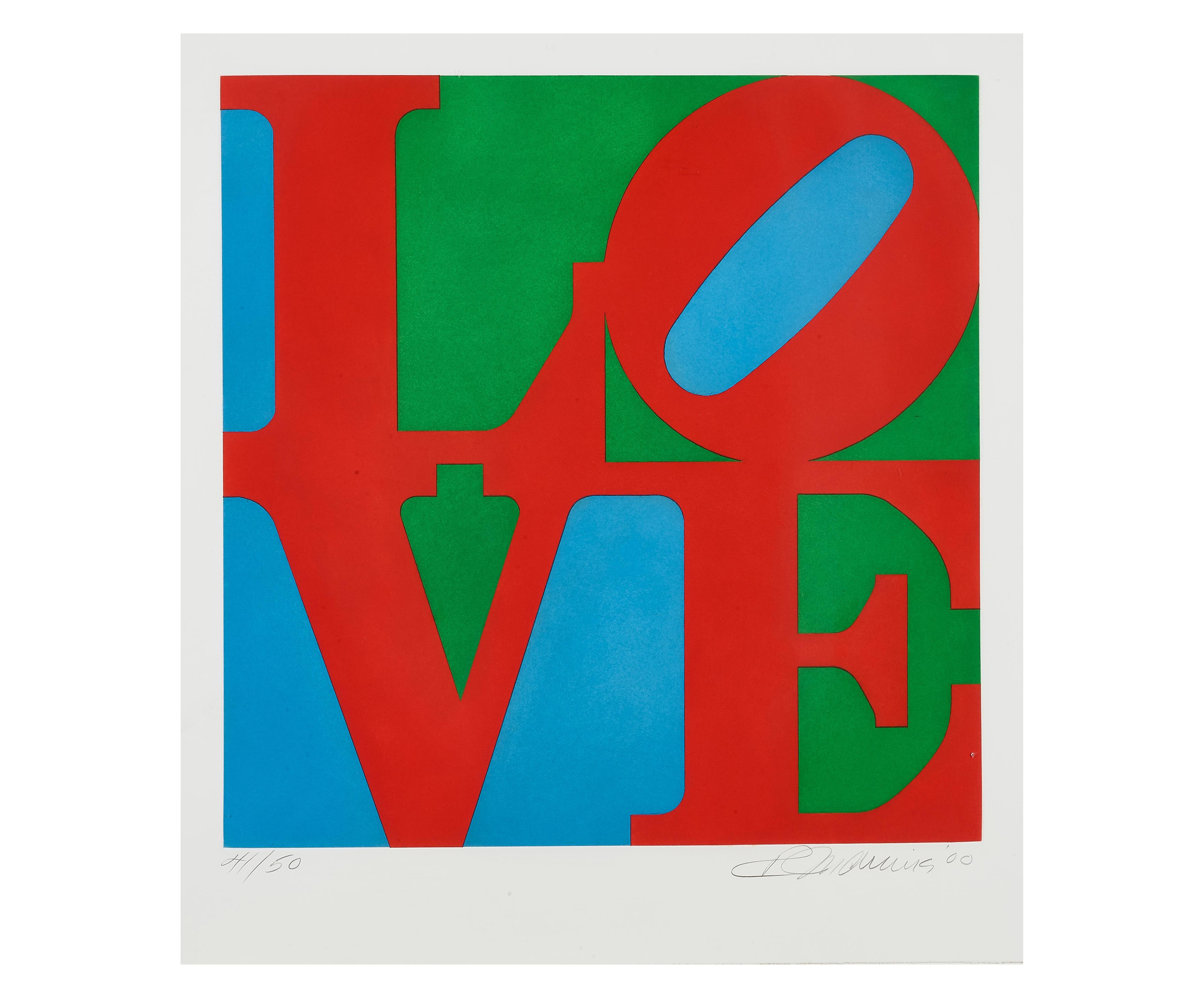 Robert Indiana (1928-2018); Love / 2000 (Diptych);