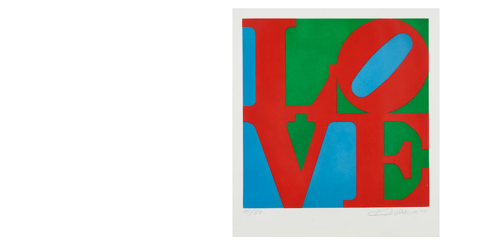 Robert Indiana (1928-2018); Love / 2000 (Diptych);