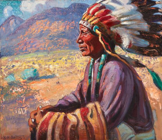 Harold Harrington Betts (1881-1951) Gov' of War 26 x 30in framed 32 x 36in.