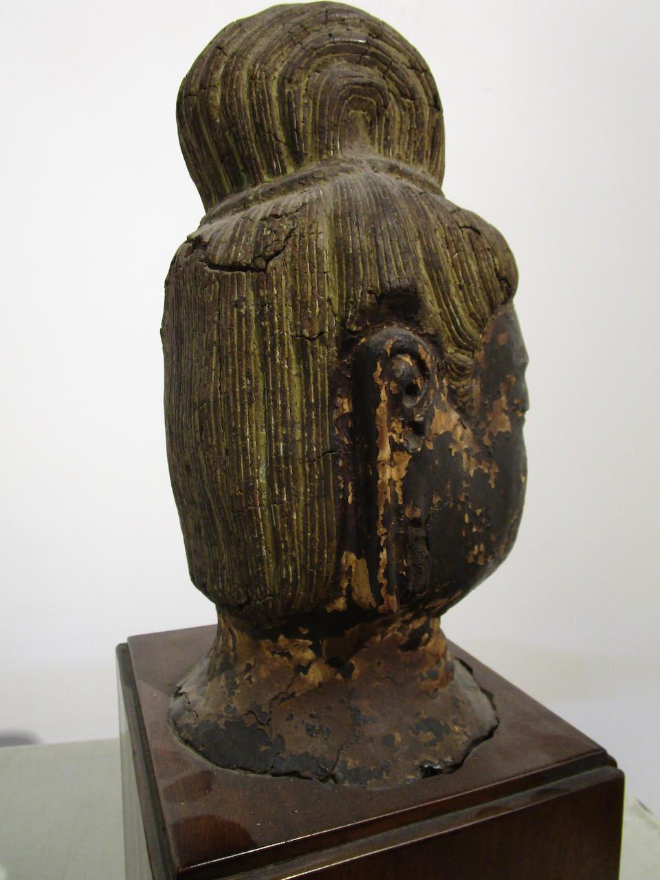 A dry-lacquer head of the buddha Nara period (710-794)