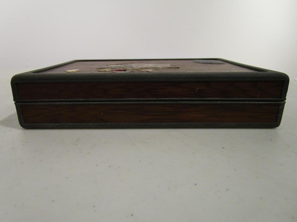 After Ogawa Haritsu (1661-1747) An inlaid-wood and lacquer suzuribako (writing box)Edo period (1615-1868), 18th century