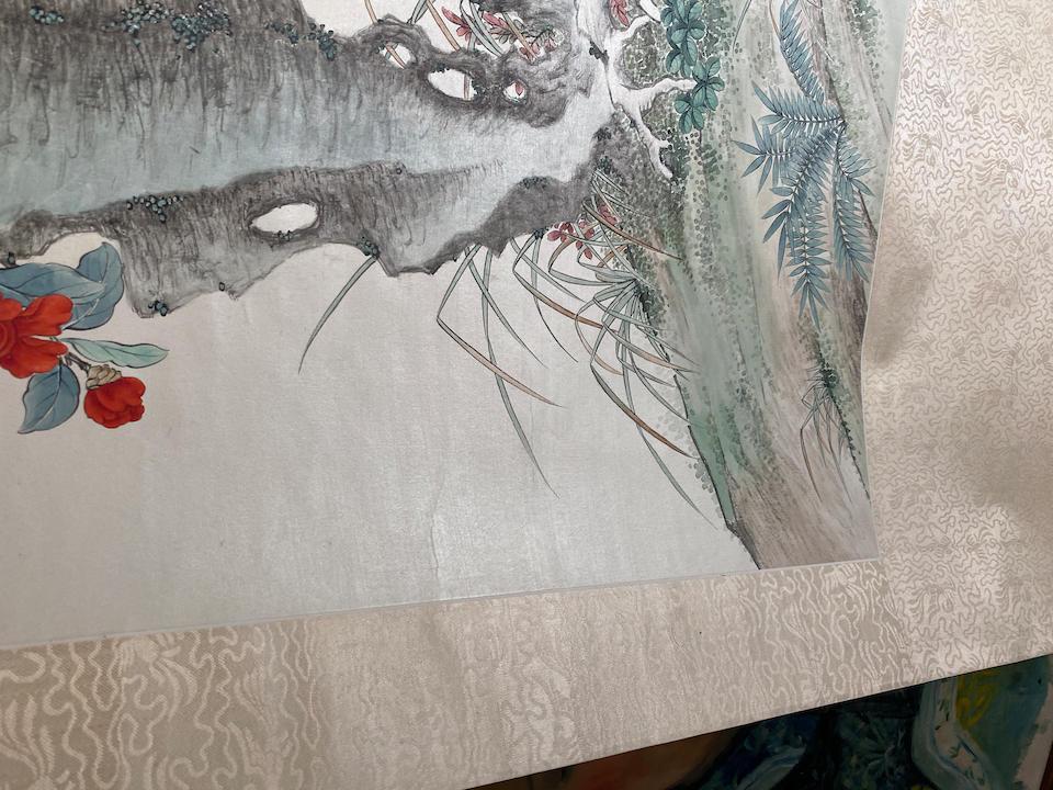 Pu Xian (1901-1966) Flowers and Rocks, 1939