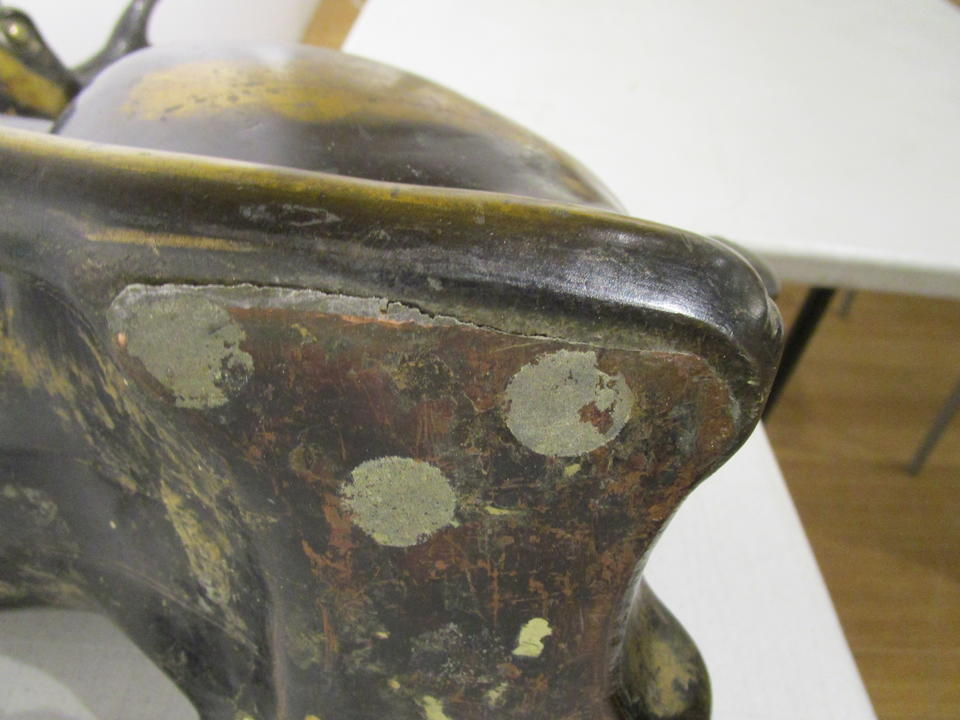 Seimin (active circa 1737) A gilt-bronze model of a stagEdo period (1615-1868), dated 1737