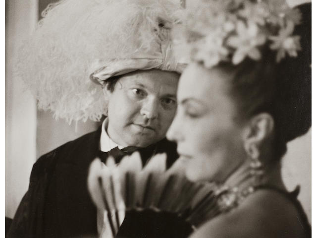 Ruth Orkin (1921-1985); Orson Welles at Count Beistegui's Costume Ball, Venice;