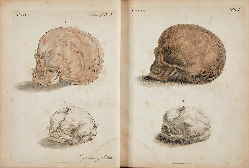 BELL, JOHN. 1763-1820. Engravings explaining the Anatomy of the Bones, Muscles and Joints. Edinburgh: Bell and Bradfute, 1794.