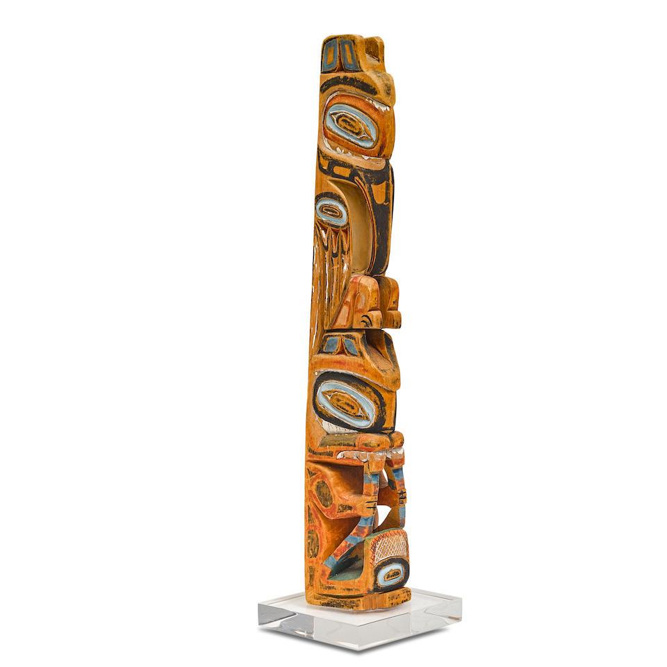 A Northwest Coast model totem pole