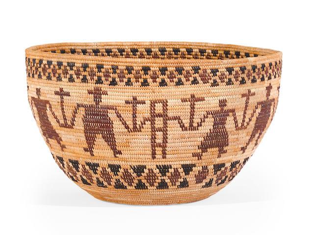 A Yokuts polychrome friendship basket