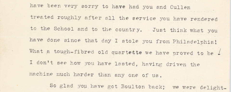 "OSLER, WILLIAM. 1849-1919. Typed Letter Signed (""Wm Osler"") to [Howard A.] Kelly, referencing the big four at Johns Hopkins,"