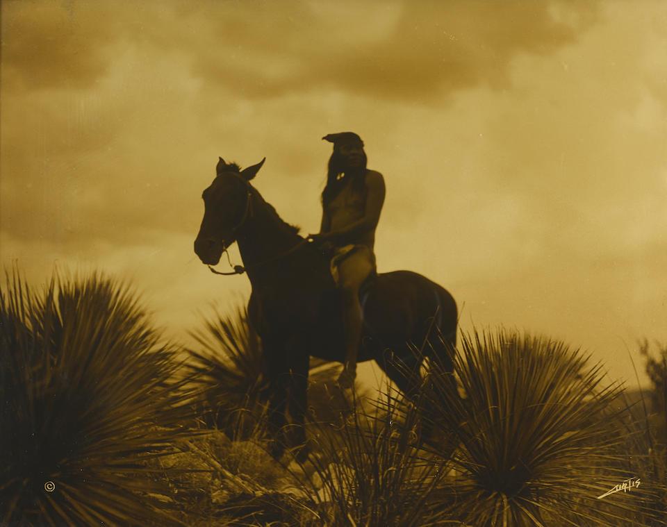 "An Edward Sheriff Curtis orotone, ""The Scout - Apache,"" 1906"